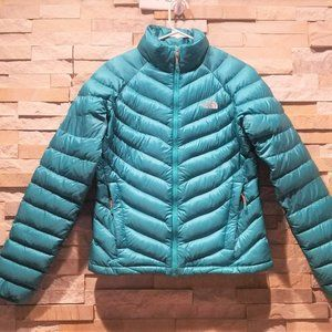 North Face Womens Small Blue Down Puffer Jacket S